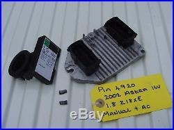 1.8 Astra Ecu Set 09158670 + Pin Code. Opel 5wk9153 Vauxhall Z18xe 16 Valve Ecm