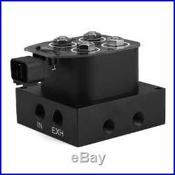 1 Set Air Ride Suspension Bag Controller 1/4 inch Solenoid Valve Manifold 4 Port