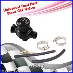 25mm Universal Dump Valve Blow Off Valve Bov Dual Port Dump Valve Black Aluminum