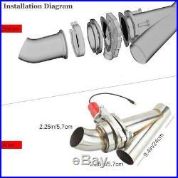 2.25 Electric Exhaust Catback Control Valve Downpipe Cutout E-Cut Valve Remote