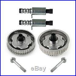 2× Camshaft Adjusters Intake & Exhaust + 2× Solenoid Valves Fit Vauxhall Vectra