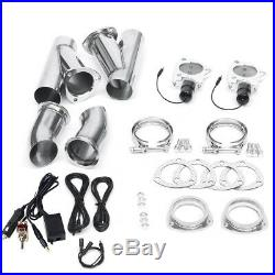 3'' Electric Dual Exhaust Valve Catback Y-pipe Cutout E-Cut System Manual