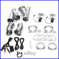3'' Electric Dual Exhaust Valve Catback Y-pipe Cutout E-Cut System Manual Switch