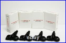 4 x black tpms sensors fits vauxhall astra j 4dr 2011-2014 tyre pressure sensor
