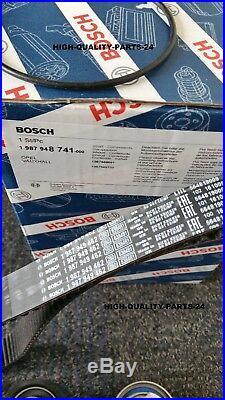 BOSCH Timing Cam Belt Kit Vauxhall opel Cavalier Astra Vectra KADETT 1.7D TD