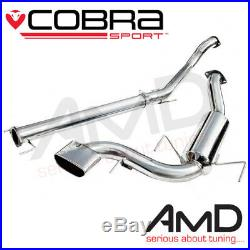 Cobra Astra VXR Exhaust Cat Back Non Resonated Astra H VXR Stainless VZ08h 3