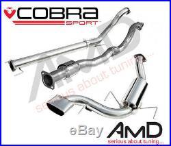 Cobra Sport Astra VXR H 3 Turbo Back Exhaust Sports Cat Non Resonated