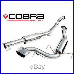 Cobra Sport VX72 Vauxhall Astra H VXR resonated cat back exhaust