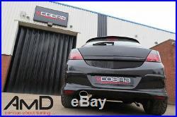 Cobra Sport Vauxhall Astra H SRi Cat Back Exhaust Resonated Stainless Steel