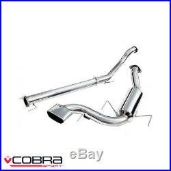 Cobra Sport Vauxhall Astra H VXR 2.0 Turbo Cat Back Exhaust (2.5/N) VX71