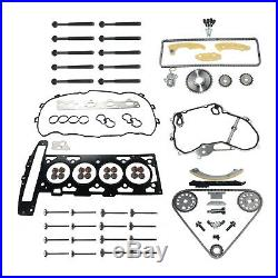 Fit GM Opel Z22SE Cylinder Head Gasket Set + Timing Chain Kit + Valve + Bolts