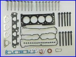 For Vauxhall Astra Zafira 1.6 Z16xe Head Gasket Set Bolts Inlet Exhaust Valves
