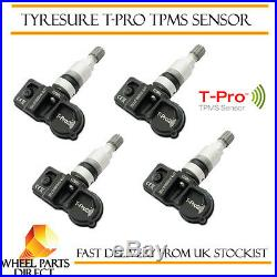 TPMS Sensors (4) TyreSure T-Pro Tyre Pressure Valve for Vauxhall Astra K 15-EOP