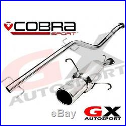 VA16 Cobra Sport Vauxhall Astra G Coupe 98-04 Cat Back Exhaust Non Resonated