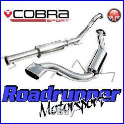 VZ08g Cobra Astra VXR MK5 3 Exhaust System Stainless Cat Back Resonated (05-11)