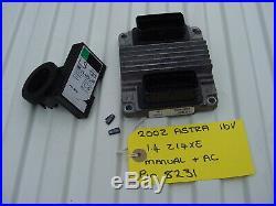 Vauxhall Astra 1.4 Ecu Set Dlsp 09353459 + Pin Code. 16v Opel Z14xe 16 Valve Ecm