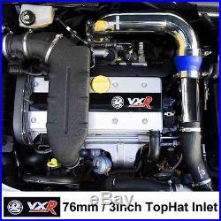"Chrome//Blue Vauxhall Astra Zafira H VXR Z20LEH 3/"" Tophat Dumpvalve Kit"