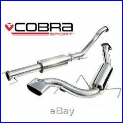 Vauxhall Astra H VXR Resonated Cat Back Cobra Sport Exhaust VZ08g