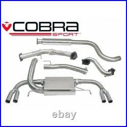 Vauxhall Astra J VXR Turbo Back Exhaust (De-Cat / Resonator) Cobra Sport VX25c