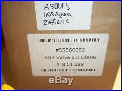 Vauxhall Insignia Astra J & Zafira C Diesel 2.0 cdti EGR Valve number 55566052