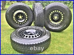 Vauxhall Mokka X Astra J 16 Winter Tyres Steel Wheels Trims Nuts TPMS Valves